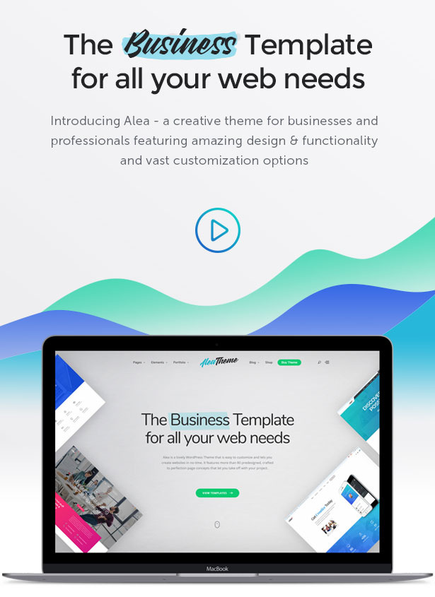 Alea - Business Multipurpose WordPress Theme - 1