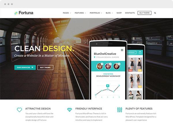 Fortuna Premium Wordpress Template