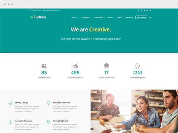 Fortuna – Premium WordPress Template